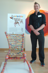 Creative rubber band chair is art you can use.