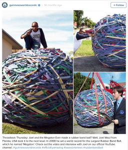 The biggest rubber band ball