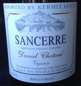 Sancerre wine is easy to drink and pairs well with food