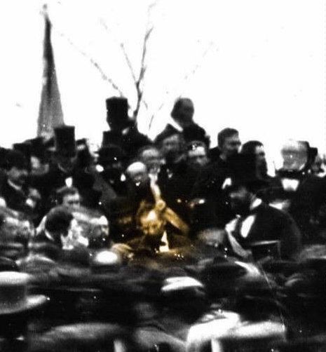 Lincoln in Gettysburg Crowd