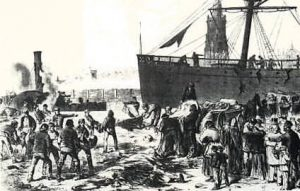 1875 bombing on docks of Bremerhaven resulted in deaths on SS Mosel