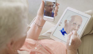 98 year old Pat Scott continues to create art digitally