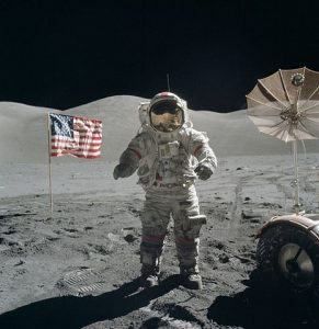 The last moonwalk during the Apollo 17 NASA mission provokes reflection on vision, commitment and courage.