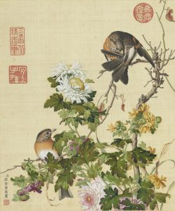 Chrysanthemum is one of the Four Gentlemen of Chinese art
