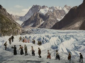 Crossing the Mer de Glace on foot (1902-1904)