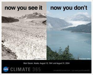 NASA comparison photos show the disappearing Muir Glacier