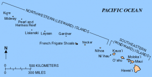 The Hawaiian Islands are an archipelago of eight major islands, several atolls, numerous smaller islets, and seamounts in the North Pacific Ocean.