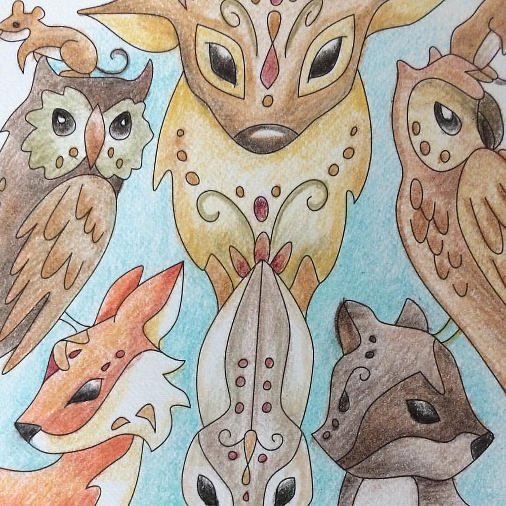 Wildlife coloring book creations are unique