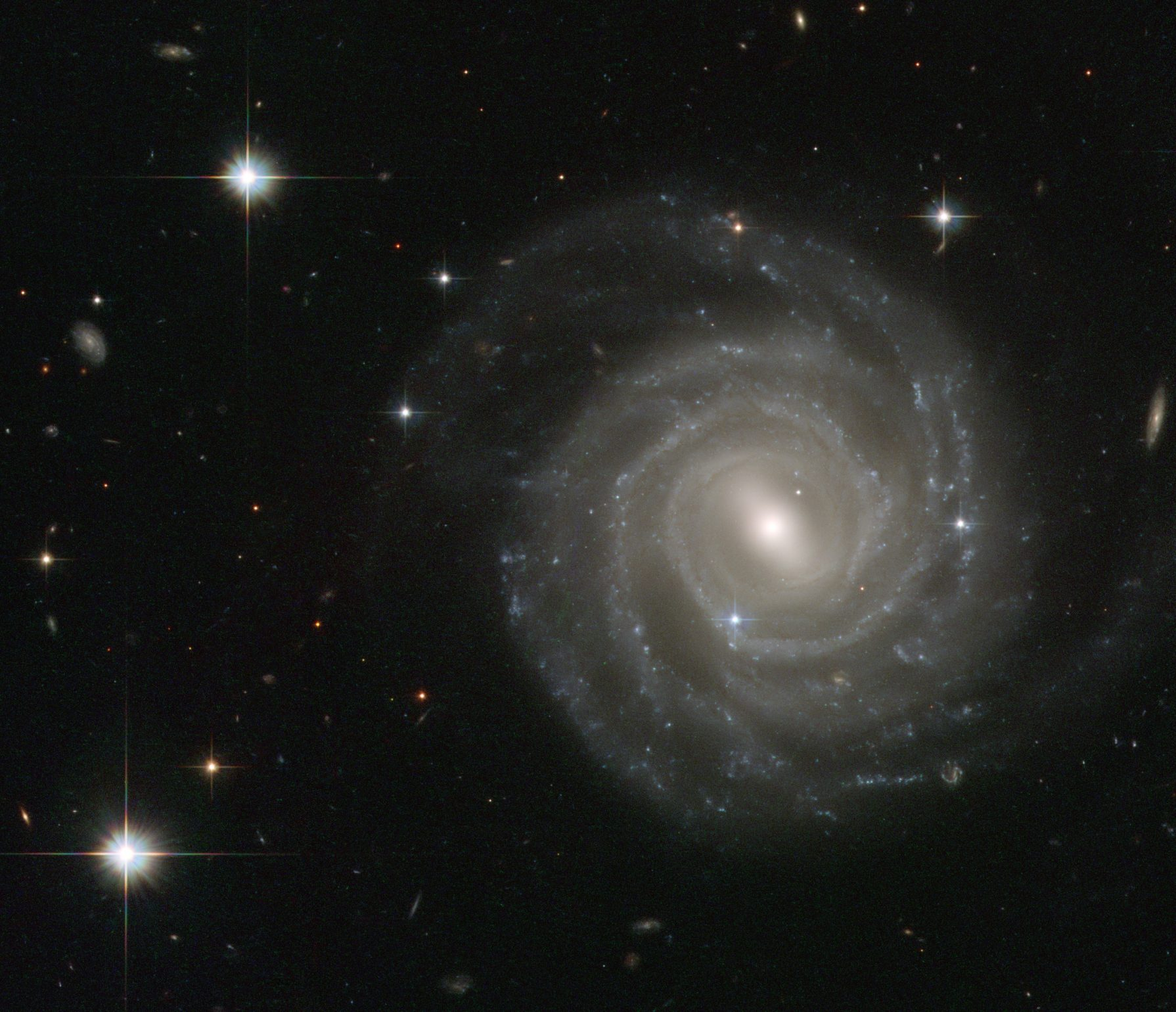 ESA/Hubble & NASA image of Barred Spiral galaxy UGC 12158