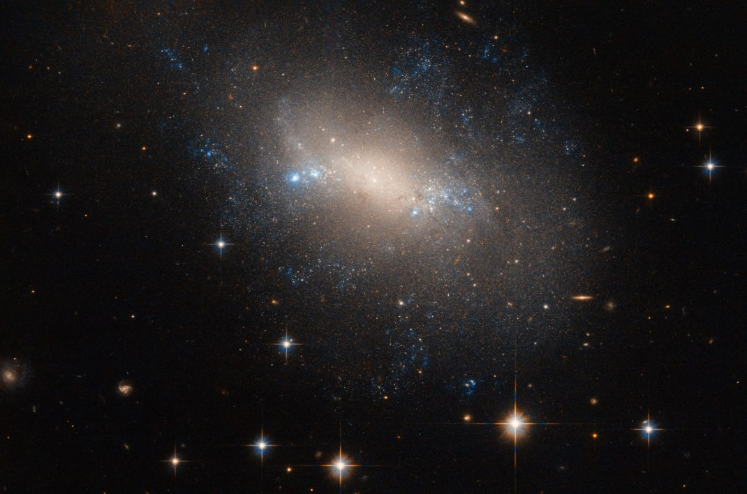 Galaxy NGC 2337 is an irregular galaxy located 25 million light-years from Earth. It was discovered in 1877 by the French astronomer, Édouard Stephan