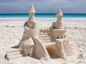It takes patience and practice to build the best sandcastle.