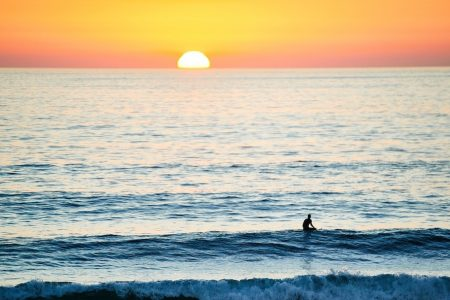 Scenic beauty on beach at sunset is just one of many moments of bliss in Malibu