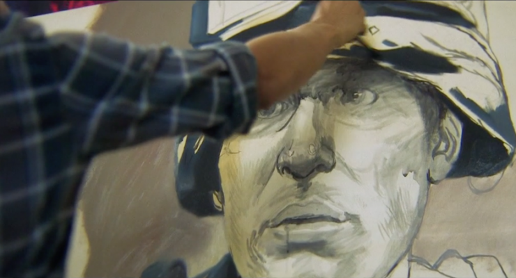 Artist Vincent Valdez paints a tribute to his childhood friend, John, and tells his story of struggle and loss