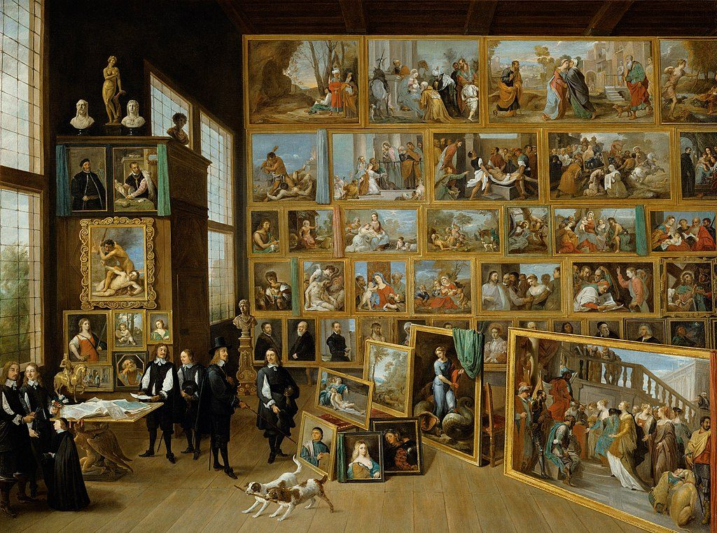 Art Collection of Archduke Leopold Wilhelm in Brussels by David Teniers the Younger, 1650