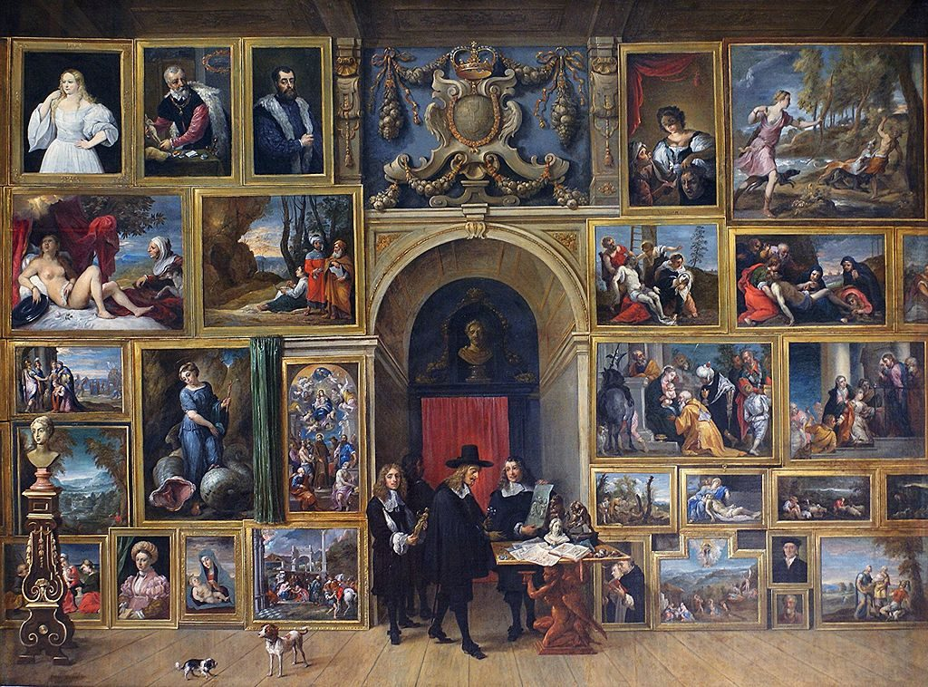 Art Collection of Archduke Leopold Wilhelm in Brussels by David Teniers the Younger, 1651