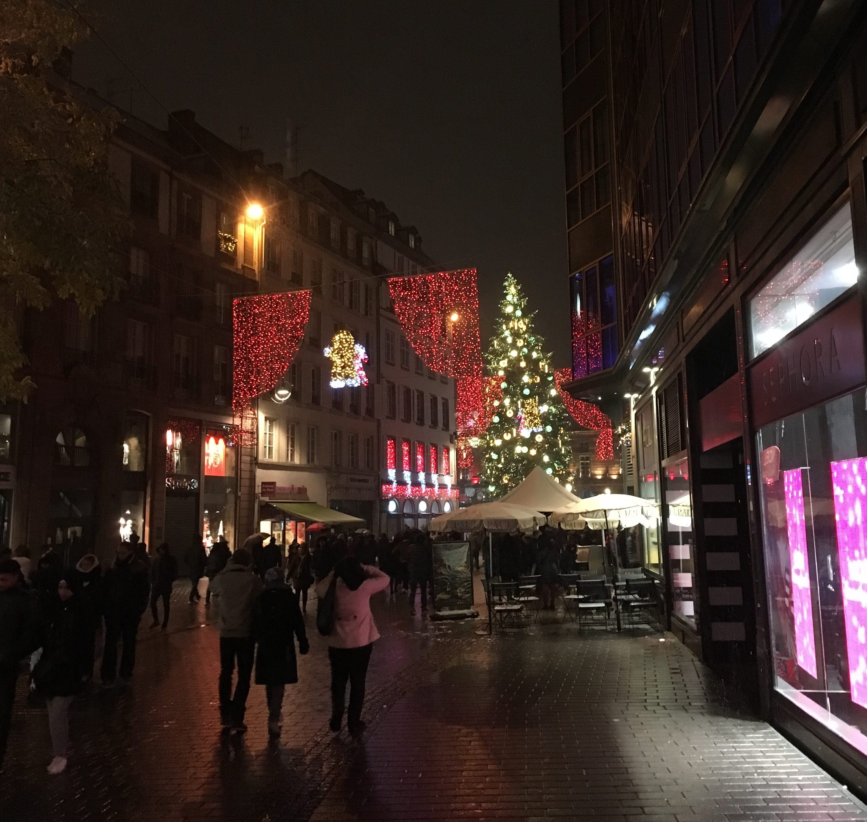 The Strasbourg Christmas Tree, France - December 2017