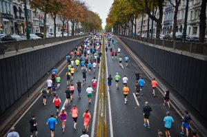 People have many different reasons for running in a marathon race.