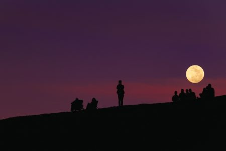 The tradition of moon gazing can be traced back to ancient cultures, and is still enjoyed today throughout the world.