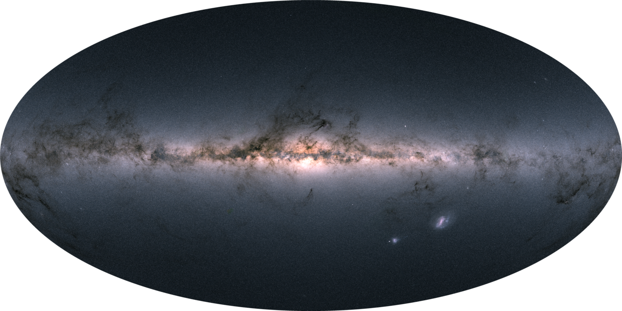 Our first really good look at the Milky Way came from the satellite Gaia on April 25, 2018
