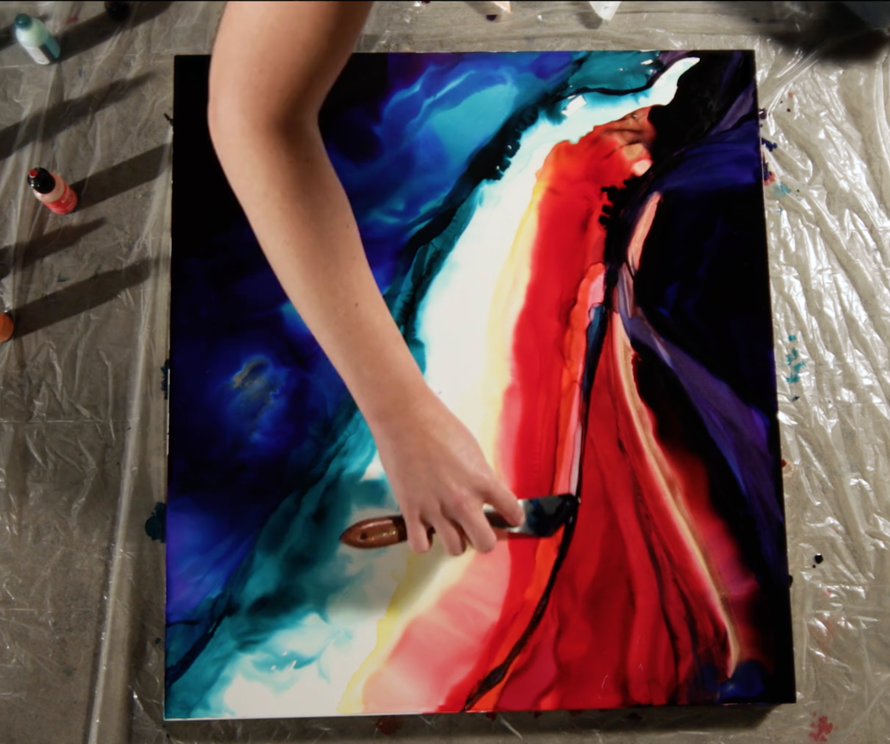 Watch as Christina Eve creates art inspired by music