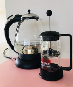 It's surprisingly easy and quick to brew coffee using a french press.